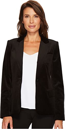 Ivanka Trump - Velvet One-Button Jacket
