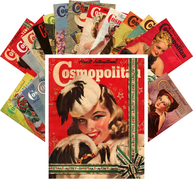 New Orleans Mall Postcard Set 24pcs Vintage Magazine Covers Max 77% OFF Cosmopolitan