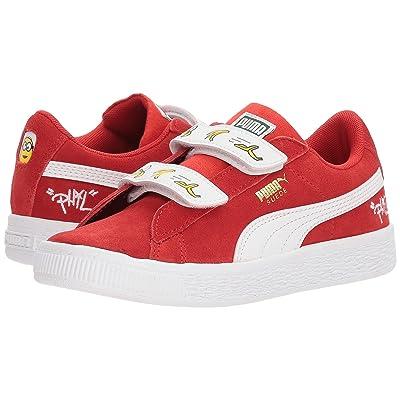 Puma Kids Minions Suede V (Little Kid) (High Risk Red/Puma White) Kids Shoes