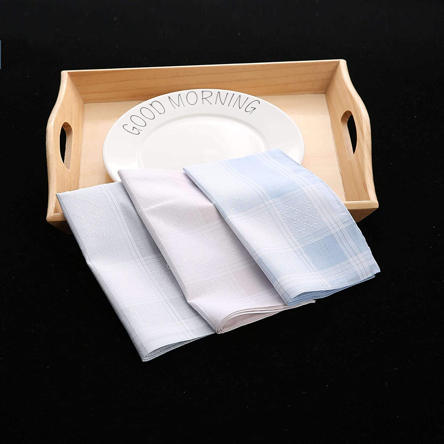 Large Soft Cotton Handkerchiefs for Men with Elegant Pattern in Assorted Color