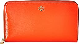 Tory Burch - Robinson Patent Zip Continental Wallet