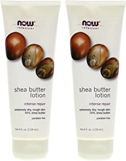 Now Foods Shea Butter Lotion - 4 oz. pack of 2