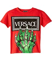 Versace Kids - Monster Hand Logo Tee (Little Kids)
