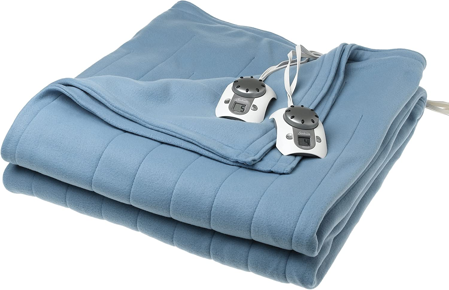 Sunbeam Twin Discount mail order Branded goods Electric Warming Blue Harbor Soft Blanket
