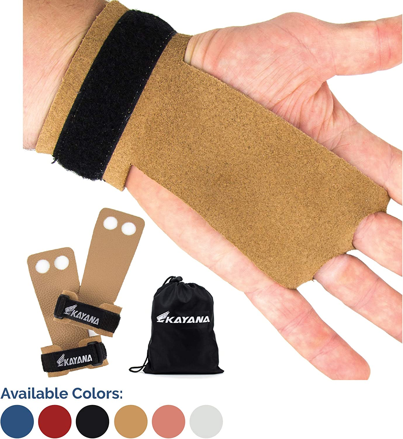Excellent KAYANA 2 Hole Leather Gymnastics Hand an Detroit Mall Grips - Protection Palm