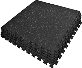 Sivan Health and Fitness Puzzle Exercise Mat High Density Rubber Top Interlocking Gym Tiles - 24 Sq Ft