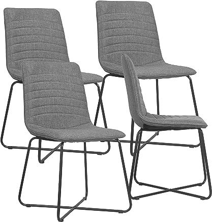 c831019d620 By Demeyere Strawberry - Juego de 4 sillas de Comedor contemporáneas de  Tela y Patas de
