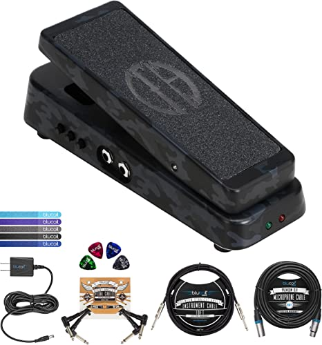 """high quality Dunlop Dimebag Cry Baby From Hell popular Guitar Wah Effects Pedal (DB01B) Bundle with Blucoil 4x Guitar Picks, 10' Instrument Cable (1/4""""), 9V AC Adapter, 2x Patch Cables, 5x Cable Ties outlet online sale and 20' XLR Cable outlet sale"""