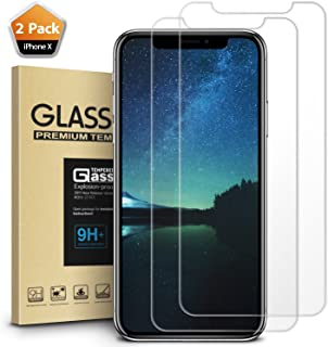 Mkeke Compatible with iPhone Xs Screen Protector, iPhone X Screen Protector Tempered Glass Film for Apple iPhone Xs iPhone X 10 5.8-Inch, 2-Pack