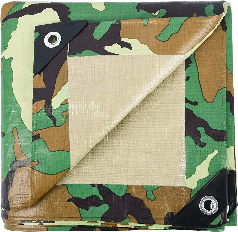 LOOGU Heavy Duty Waterproof Tarp 12' US 16' x Very popular New product Mul Woodland Camo