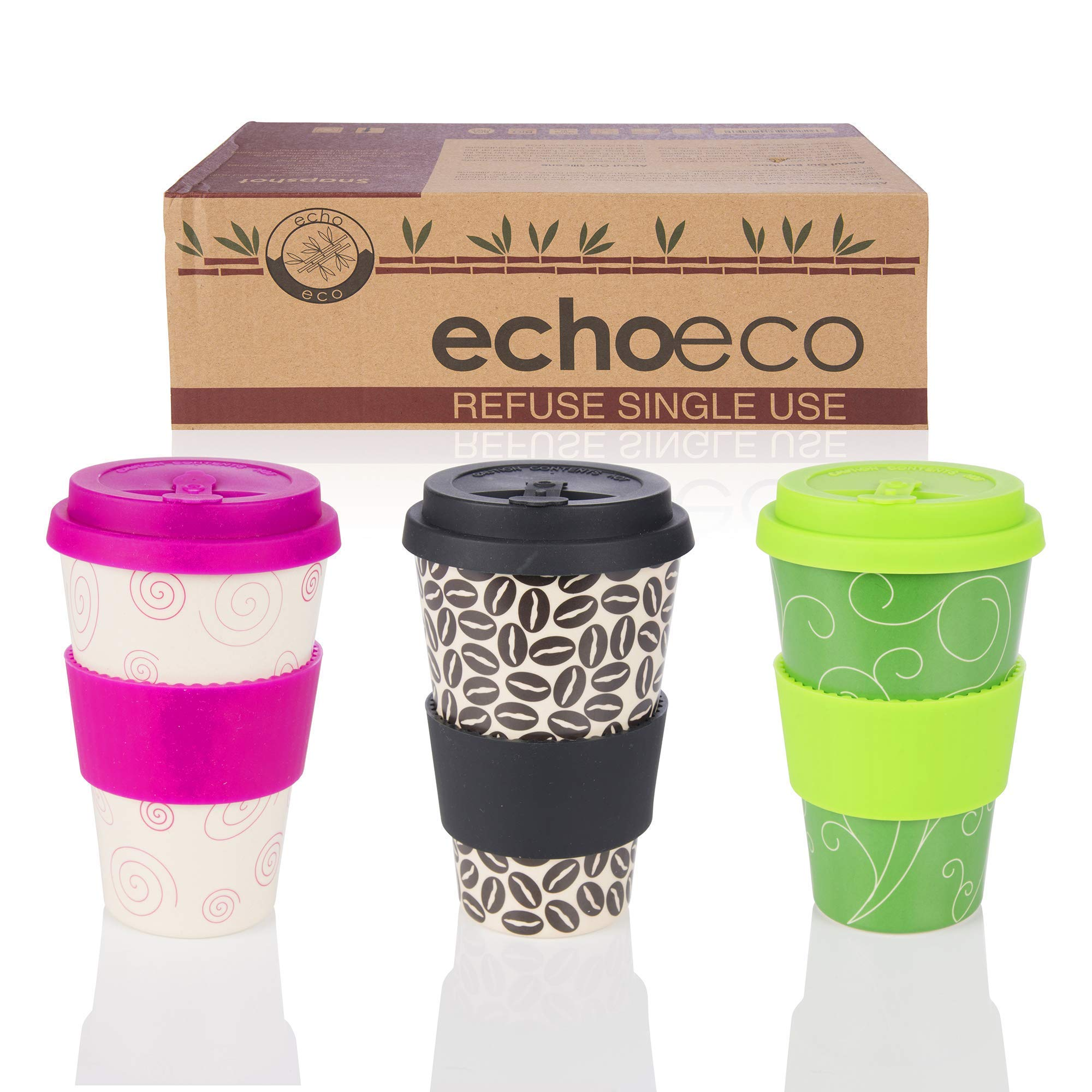 Details about PK OF 2 ECO CUPS & LID IDEAL FOR REPLACING DISPOSABLE SHOP COFFEE CUPS!