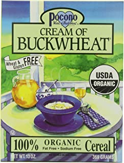 Pocono Cream of Buckwheat Gluten Free Hot Cereal, 13-Ounce (Pack of 3)