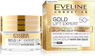 Eveline Cosmetics, Gold Lift Expert 50 ml multinärande krämserum med 24 karat guld 50 torr mognad och känslig hud för dag ...