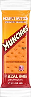 Munchies Peanut Butter on Cheese Crackers, 1.42 Ounce (Pack of 96)