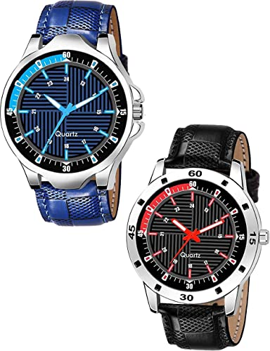 LEVERET Gents Exclusive 2 Designer Combo Analog Watch For Boys