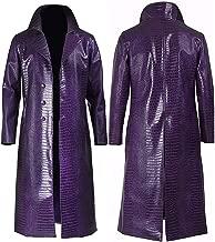 Parties Joker Costumes | Mens Stylish Movies Leather Jacket Costumes Coat | Joker Purple Long Coat