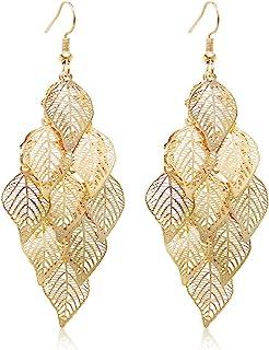 So Pretty Dangle Earrings for Women Handmade Boho Super Lightweight Chandelier Dangle Drop Earring Gold Silver Plated