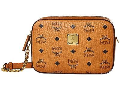 MCM Visetos Original Crossbody Mini (Cognac) Bags