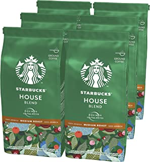 Starbucks House Blend Café Molido De Tostado Medio 6 Bolsa de 200g