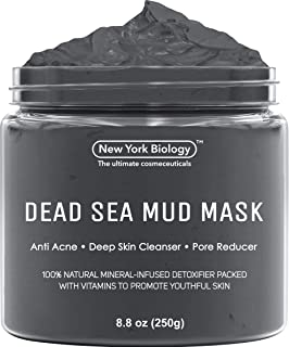 Best New York Biology Dead Sea Mud Mask for Face and Body - Spa Quality Pore Reducer for Acne, Blackheads and Oily Skin, Natural Skincare for Women, Men - Tightens Skin for A Healthier Complexion - 8.8 oz Review