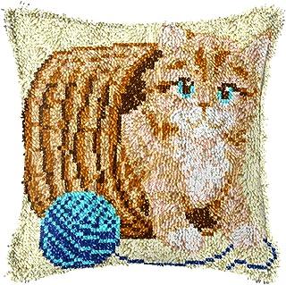 Apprendre À Crochet Kits for Adultes Coussin De Laine Coussin D'artisanat Cas d'oreiller DIY Crochet Kit De Crosse Croche ...