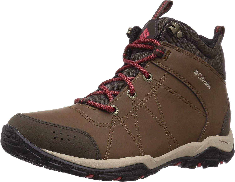 Columbia Womens Fire VentureTM Mid Leather Waterproof Hiking Boot