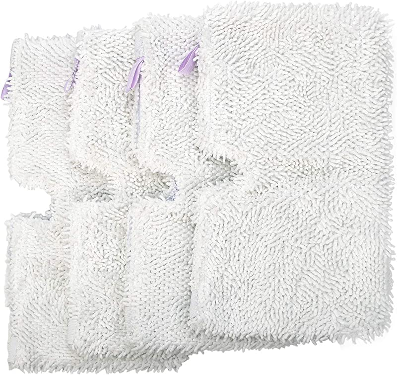 Flammi 4 Pack Replacement Microfiber Steam Mop Cleaning Pads Compatible For Shark Steam Pocket Mops S3500 Series S3501 S3601 S3550 S3901 S3801 SE450 S3801CO S3601D White