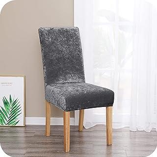 UMI. by Amazon Fundas para sillas de salón elásticas Suave Gris(Juego de 2)