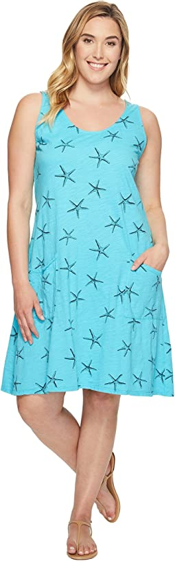 Extra Fresh by Fresh Produce - Plus Size Sea Star Drape Dress