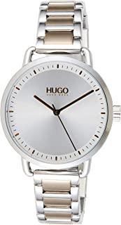 Hugo Boss Women's Silver White Dial Two Tone Stainless Steel Watch - 1540057