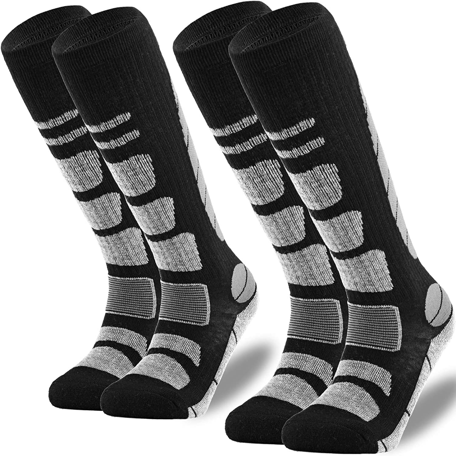 Max 68% OFF Ski Socks 2 Pairs Pack for Skiing Weather Sale item Snowboarding Cold W