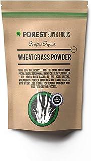 Forest Super Foods Certified Organic Australian Grown Young Wheat Grass Powder 500g (60 day supply) Premium Quality Gluten...