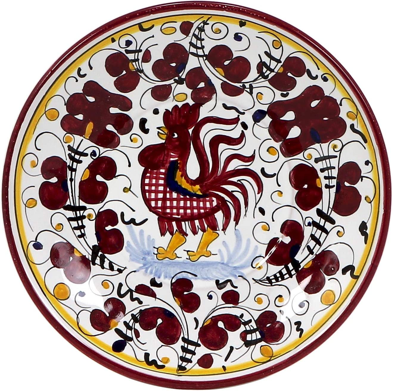 Japan 1 year warranty Maker New ORVIETO RED ROOSTER Small Bread 7 Diam. Plate Saucer