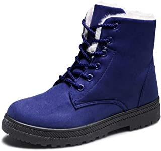 f6b311cc9eba CIOR Women s Winter Boots Warm Suede Lace up Snow Boots 2018 Waterproof PU  Shoes