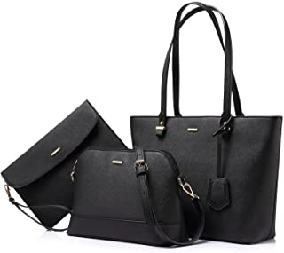 Handbags for Women Shoulder Bags Tote Satchel Hobo 3pcs...