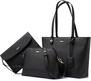 Designer Purses and Handbags for Women, Classic Work Bag Fits 14 Inch Laptop, Best Gift (3 Pieces Set)