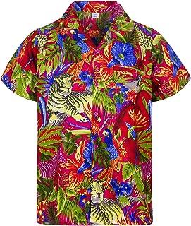Chenaski Camicia Maniche Corte Jungle Flowers Black