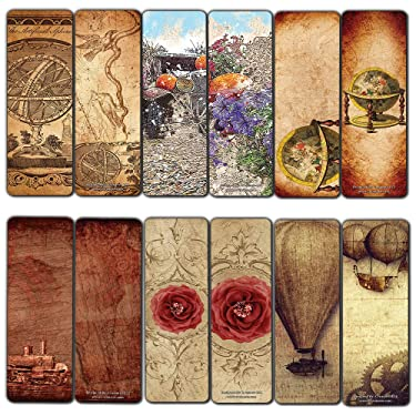 Creanoso Vintage Classic Style Bookmarks (12-Pack) - Definitive Bookmarks for Men, Women, Teens – Antique Old-Fashioned Paintings – Unique Art Paints