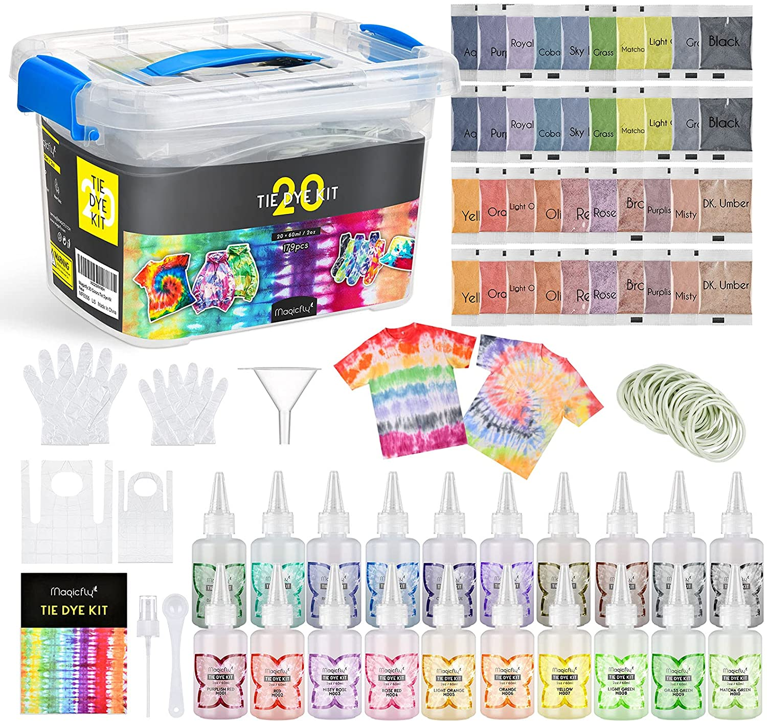 Magicfly 20 4 years warranty Colors Tie Dye Kit Fabric Pack DIY Non 179 shipfree