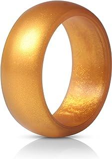 خواتم من السيليكون من ثندر فيت، 7 خواتم/ 4 خواتم/ خاتم واحد، مناسبة للزواج للرجال - بعرض 8.7 ملم - بسمك 2.5 ملم
