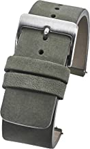 Genuine Suede Leather Thick Flat Watch Strap with Quick Release Spring Bars - Black, Bown, Green, Beige & Mustard - 20mm, 22mm, 24mm