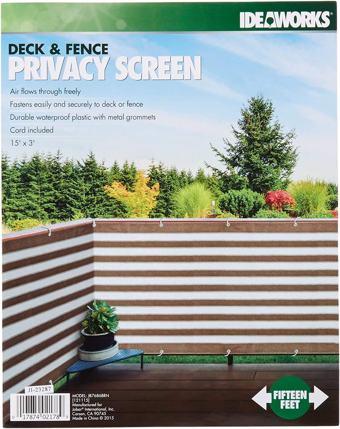 IdeaWorks New Deck Fence Privacy Sc 5 ☆ popular Waterproof Durable Limited time sale Netting