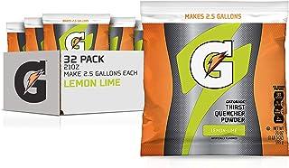 Gatorade Powder Bag Lemon Lime, 21 Ounce (Pack of 32)