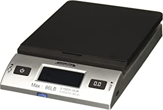 Accuteck S 86 lb All-In-One Silver Digital Shipping Postal Scale with Adapter (W-8260-86BS)
