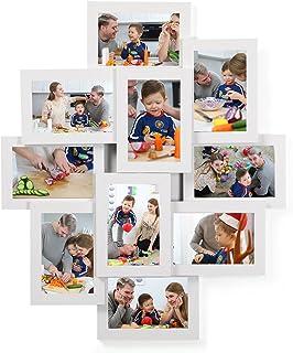 comprar comparacion SONGMICS Marco de Fotos Collage para 10 Fotos de 10 x 15 cm, Hecho de Tableros MDF, Montaje en Pared, para Galería de Foto...