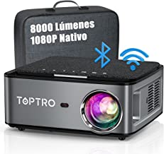Proyector WiFi Bluetooth, TOPTRO 8000 Lúmenes Proyector 5G WiFi Full HD 1920x1080P Nativo Soporta 4K, Ajuste Digital de 4 ...