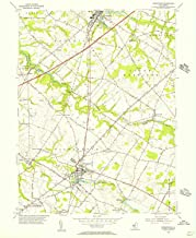 YellowMaps Woodstown NJ topo map, 1:24000 Scale, 7.5 X 7.5 Minute, Historical, 1955, Updated 1956, 26.8 x 22.1 in