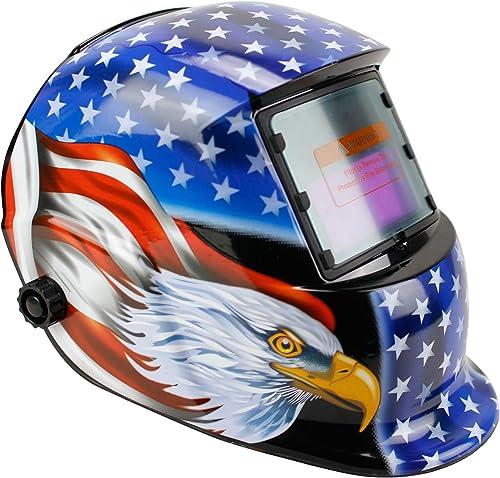 discount Geelife Solar Powered Welding Helmet Auto wholesale Darkening Hood with Adjustable Shade Range wholesale 4/9-13 for Mig Tig Arc Welder Mask (Blue Eagle) online
