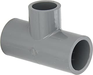 GF Piping Systems CPVC Pipe Fitting, Reducing Tee, Schedule 80, Gray, 1