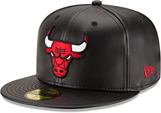NBA Men's Faux Leather 59FIFTY Fitted Cap